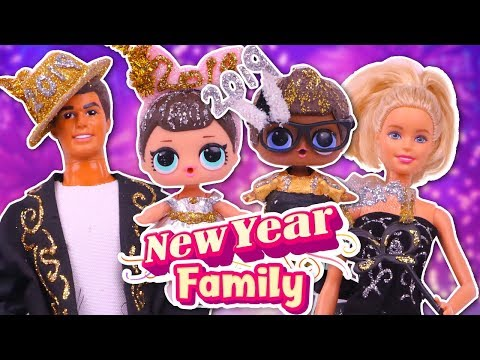 🥂 NEW YEAR'S EVE FAMILY 🎉 MOM, DAD & KIDS custom BARBIE and LOL SURPRISE dolls - Toy Transformations