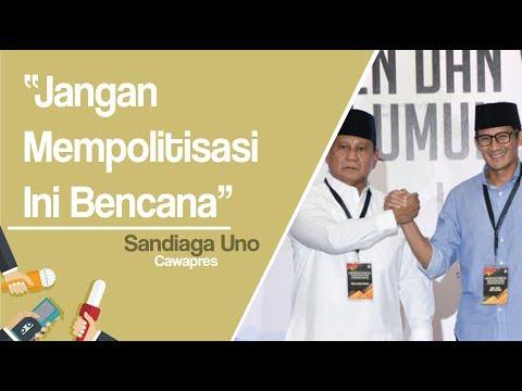 Putuskan Tak ke Palu dan Donggala dalam Waktu Dekat, Prabowo-Sandi: Jangan Politisasi, Ini Bencana