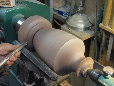 46 woodturning a walnut table lamp part 1 of 2 youtube 46 woodturning a walnut table lamp part 1 of 2 aloadofball Choice Image