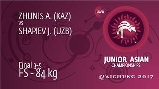 BRONZE FS - 84 Kg: J. SHAPIEV (UZB) Df. A. ZHUNIS (KAZ), 3-2