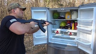 Can A Refrigerator Stop An AK-47??? (Full Auto Friday!)