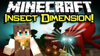 Minecraft: ARTHROPODS DIMENSION MOD Spotlight! - Creepy Crawly Caves! (Minecraft Mod Showcase)