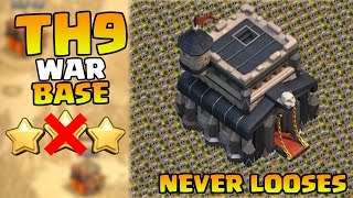 Clash of clans - Town hall 9 (TH9) BEST war base (2 Air Sweepers) [Anti 3 Stars] 2015