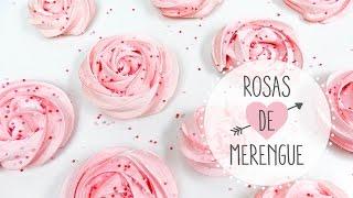 merengue duro o suspiros con forma de rosas