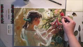 Doodle&Sketch OilBox - обзор коробочки и видео урок от Марии Павловой
