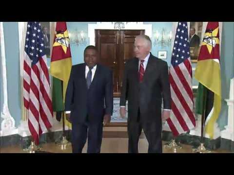 Secretary Rex Tillerson Meets With Mozambique President Nyusi