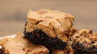 Брауни с орехами и безе. Простой супер вкусный десерт!