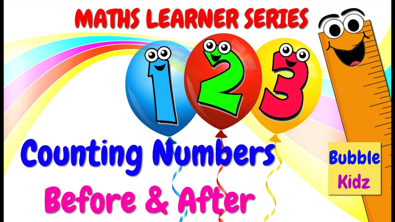 COUNT NUMBERS BEFORE AND AFTER | FROM 1 TO 10 | MATH LEARNER SERIES ...