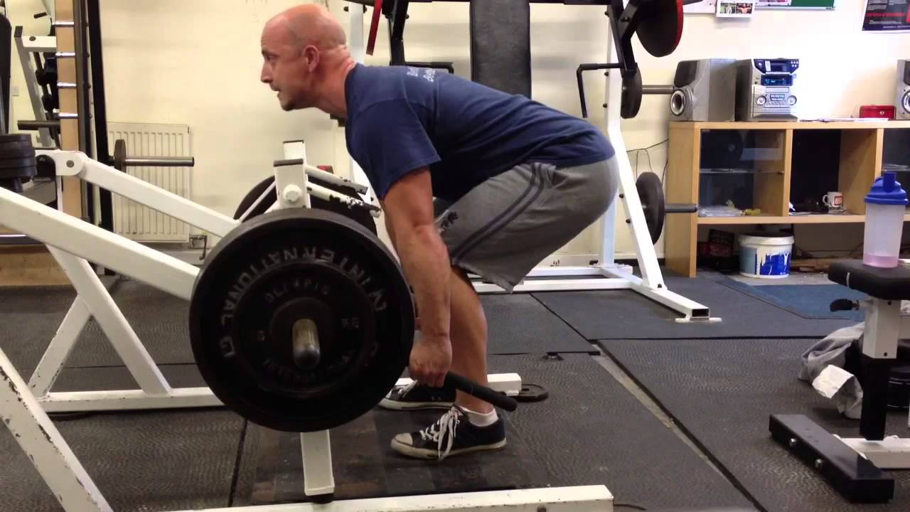 Lever Lifts Exercise : Lever deadlift plate loaded kg youtube