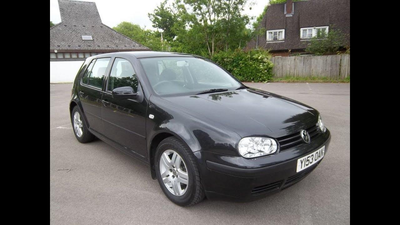 Volkswagen golf 1 6 5 door hatchback in black with alloys 2001 y reg target cars youtube