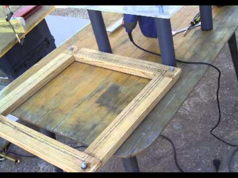 Bastidor de madera cuadrado 50x50 youtube - Como hacer un altillo de madera ...