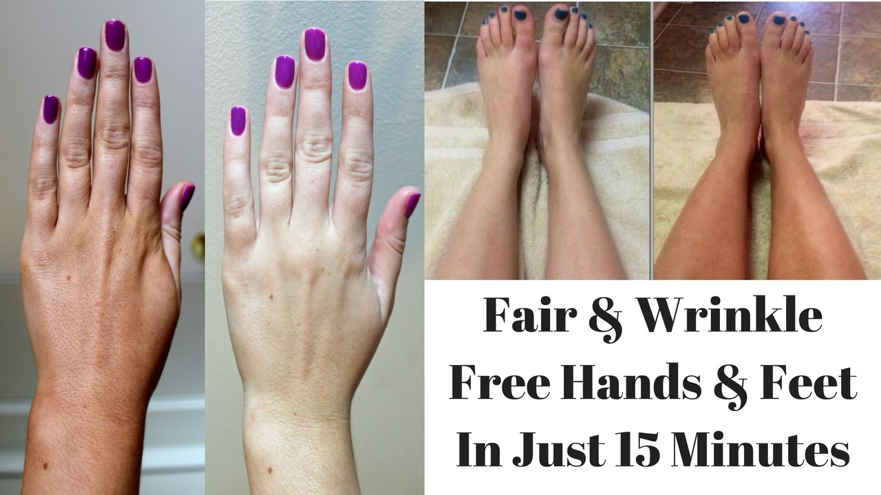 Home Remedy To Get Fair, Softer & Wrinkle Free Hands & Feet In Just ...
