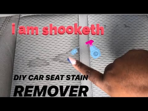 HOW TO: Clean Stained Car Seats! (SUPER EASY & CHEAP)  | NaturalBeautyEb