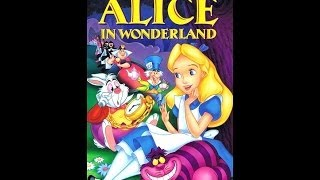 Digitized opening to Alice In Wonderland 1995 VHS UK