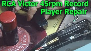 "RCA Victor 45rpm Record Player ""Desktop Jukebox"" Repair"