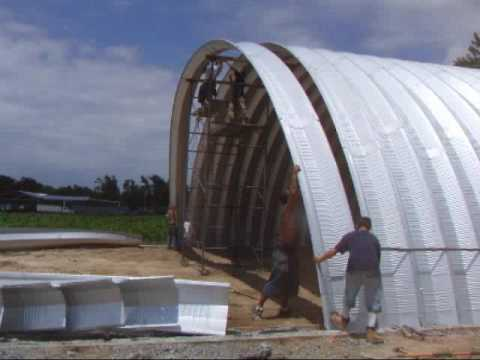 Construction Of A Steel Arch Building At Campbell Field