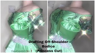 How to Cut Off Shoulder Bodice + Sleeves with Princess Cut (Simplest Method!)