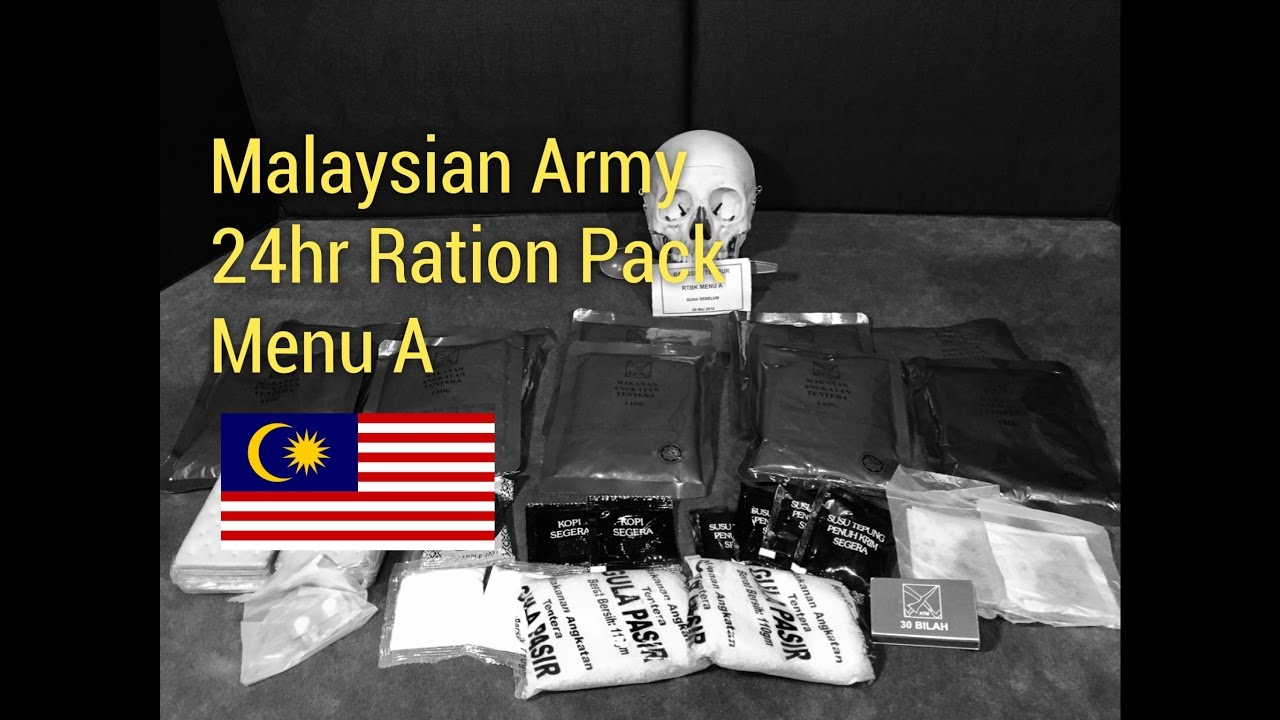 RARE Malaysian MRE Review: 24 Hour Ration Pack Menu A From BlackDogBob and Steve1989