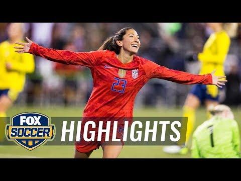90 in 90: United States vs. Sweden | 2019 Women's International Friendly Highlights