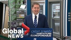 Canada Election: Scheer announces Green Home Tax Credit initiative
