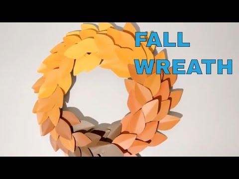 DIY Dollar Tree Fall Wreath Decor | Paint Chip & Dollar Tree Wreath