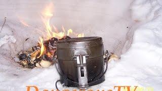 Суп со скумбрией и шведский котелок М39 (DangerousTV)