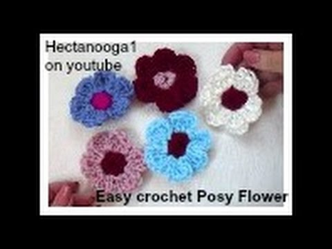 Easy Crochet Flower Crochet Pattern 1061 Video 1304 Youtube