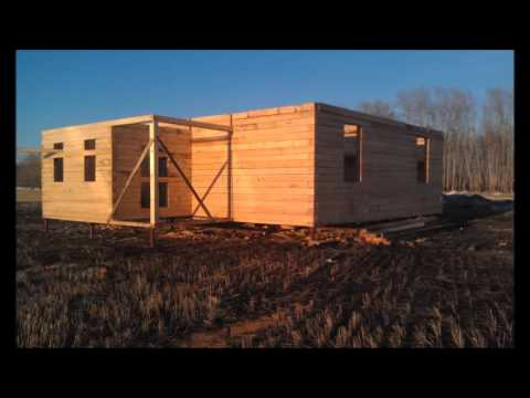 Строим дом из бруса для постоянного проживания!