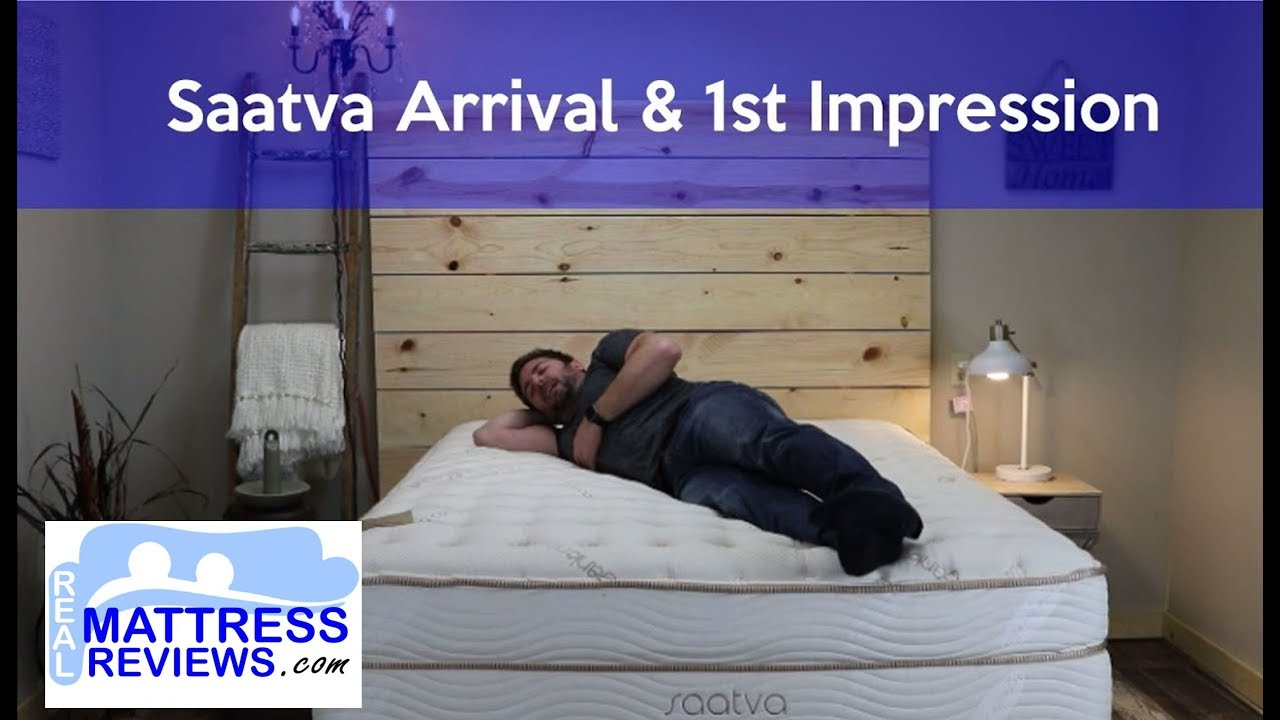 Saatva Unboxing Opening 1st Impression Real Mattress Reviews