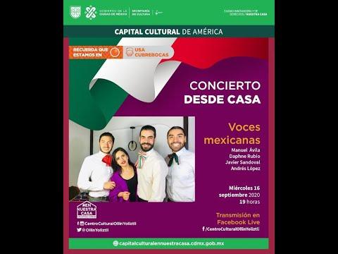 Concierto desde casa: Voces mexicanas