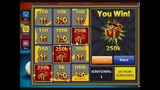 8 Ball Pool - Win a Scartch 250k - 100% WORKING