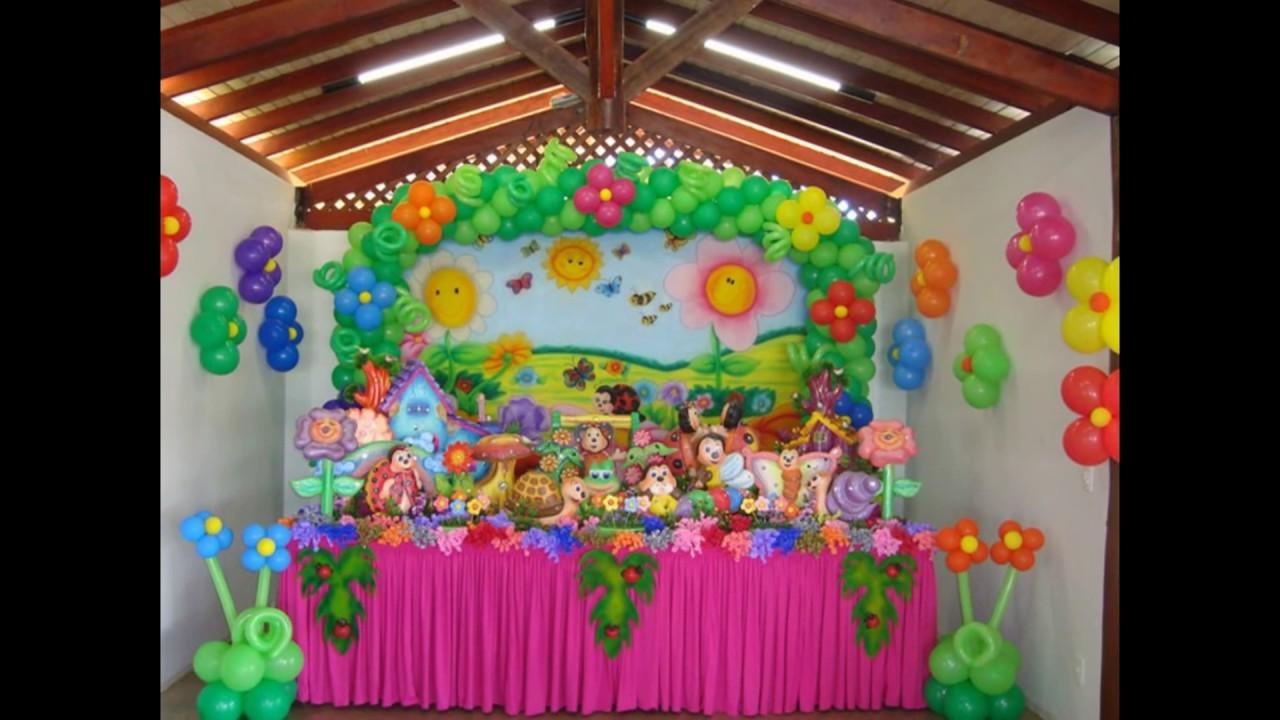 Ideias decoraç u00e3o festa Aniversário jardim encantado YouTube # Decoração De Festa De Aniversario Jardim Encantado