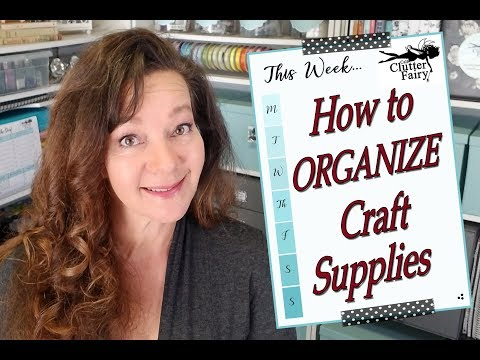 How to organize craft supplies - Craft room organization and storage ideas