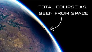 What does a solar eclipse look like from the edge of space? | Hyperlapse at 165,000 feet