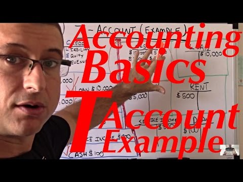 Accounting For Beginners #21  / T Account Example / Accounting Tutorial