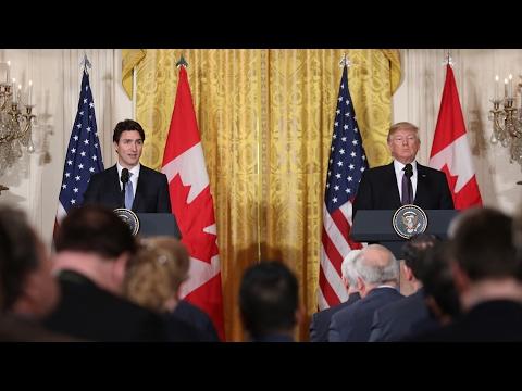 Le premier ministre Trudeau et le président Trump tiennent un point de presse à Washington, D.C.