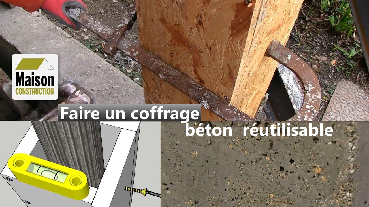 Coffrage Beton Reutilisable Youtube