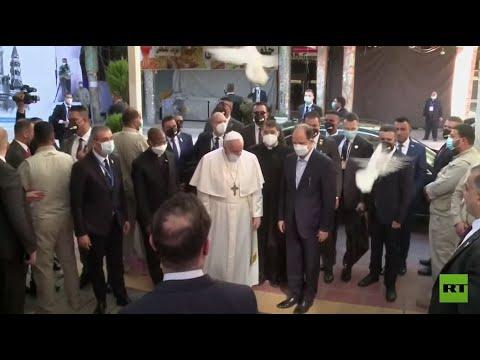 استقبال البابا فرنسيس بالحمام الأبيض في النجف  - نشر قبل 3 ساعة