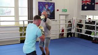 DALTON SMITH HITS THE PADS WITH TRAINER & FATHER GRANT SMITH IN SHEFFIELD