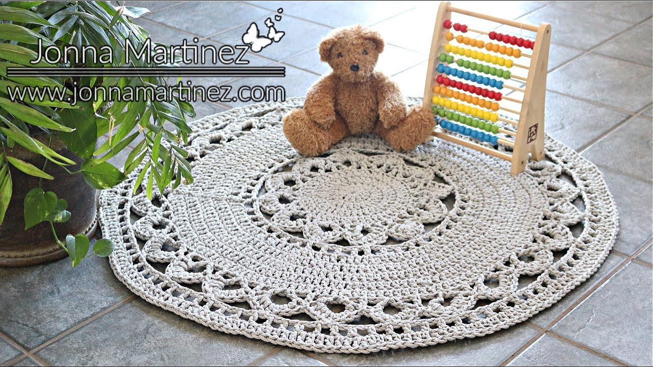 HOW TO CROCHET AN EASY AREA RUG, Bulky