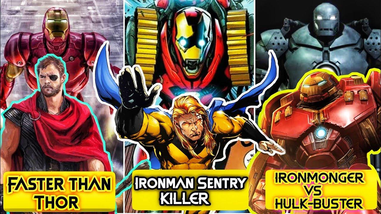 Ironman is Faster than Thor's Mjolnir and Stormbreaker. Hulkbuster vs Ironmonger