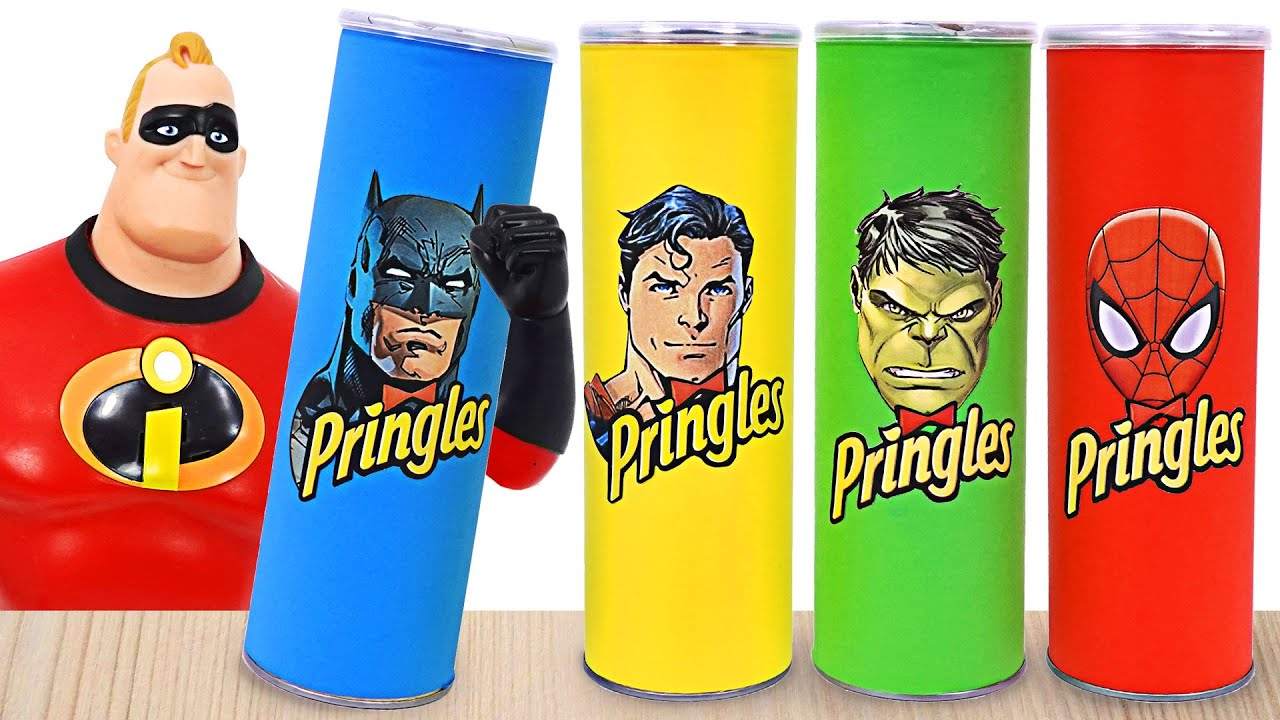 Download Incredibles family! When you touch Pringles, you transform into Superman, Hulk! | DuDuPopTOY
