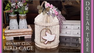 Dollar Tree DIY Farmhouse Shabby Chic Bird Cage