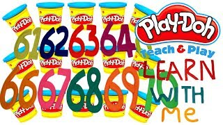 LEARN TO COUNT NUMBERS 61-70 WITH PLAY-DOH In ENGLISH l Squishy Fun