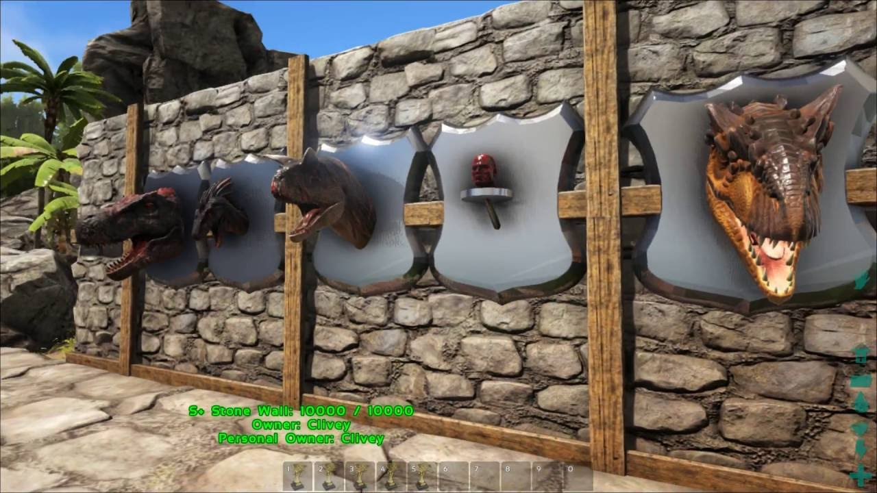 2016 ark survival evolved wall trophies youtube malvernweather Gallery