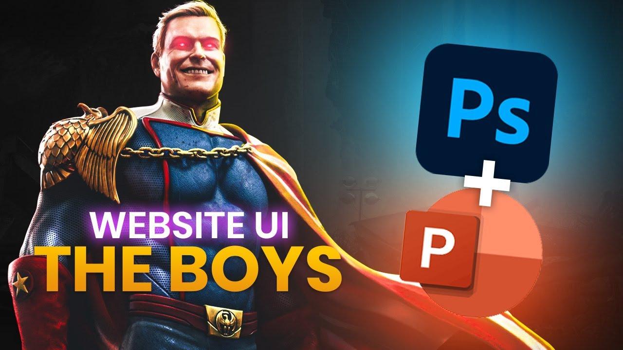 The Boys UI - Photoshop / PowerPoint