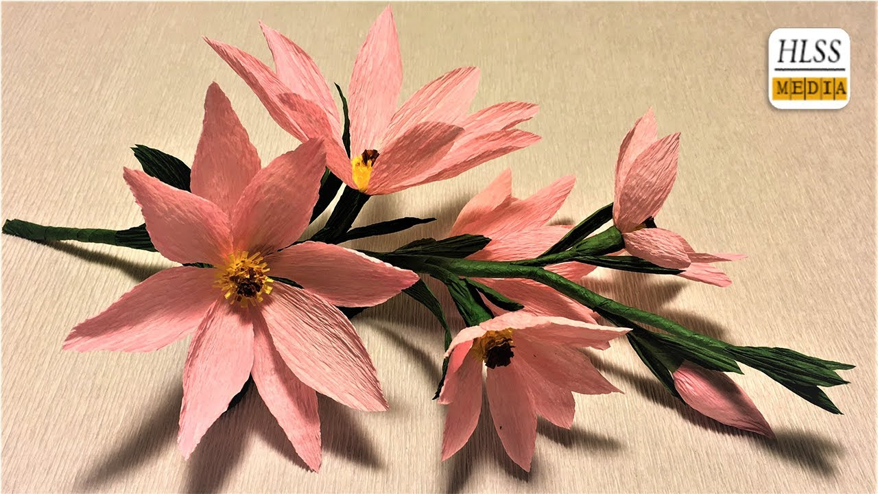How To Make Magnolia Paper Flower Diy Magnolia Crepe Paper Flower