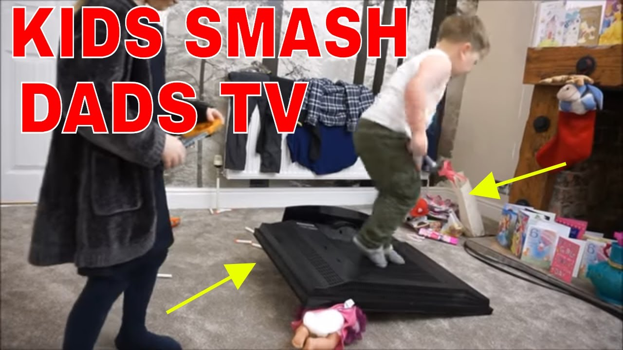 Real Prank Kids Break New Telly Dad Goes Mad Youtube