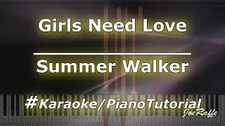 Summer Walker - Girls Need Love (Karaoke/PianoTutorial/Instrumental)