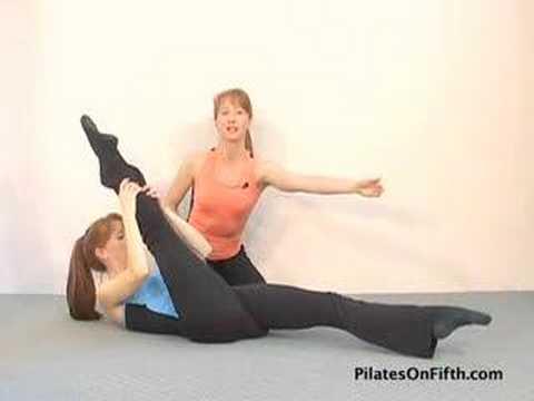 Pilates Workout Exercise: Scissors